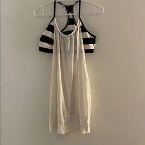White Lululemon Tank With Attached Bra